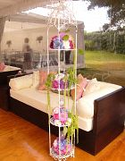 Flower Stand French White 4 Tier