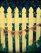 Bunting Hearts - Hessian
