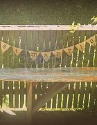 Bunting Just Married - Hessian