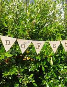 Bunting Candy Station Hessian