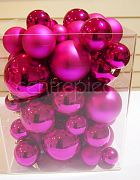 Christmas Baubels Hot Pink