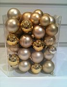 Christmas Baubels Gold