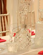 Cut Glass Decanters Round