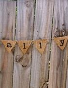 Bunting Love is all you need - Hessian