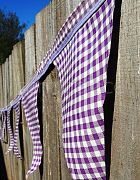 Bunting Purple Check