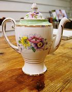 China Tea Pot & Lid Mint Green