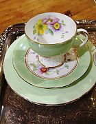 China Tea Cups Mint Green