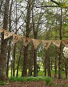 Bunting Thank You - Hessian