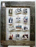 Pegboard Sign Rustic Wooden Frame