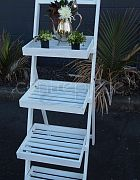Stand Wooden 4 Tier White