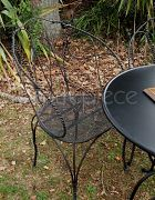 Chair Wrought Iron Black