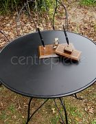 Table Round Wrought Iron Black
