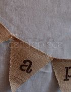 Bunting Happy - Hessian