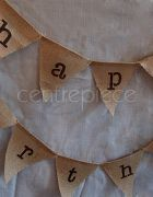 Bunting Birthday - Hessian