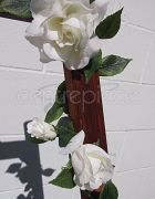 Garland Faux Rose White