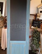 Blackboard Wooden Blue/Wash H: 184