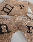 Bunting Mr & Mrs - Hessian