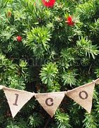 Bunting Welcome - Hessian