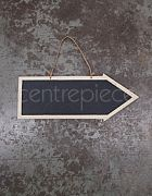 Blackboard Sign Arrow Small (Hanging)