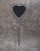 Chalkboard Sign Metal Heart Spoke