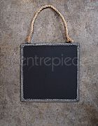 Chalkboard Sign Hanging Metal Square Large