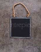 Chalkboard Sign Hanging Metal Square Small