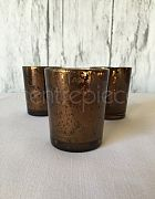 Votive Antiqued Chocolate & Candle