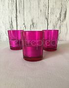 Votive Round Hot Pink + Candle