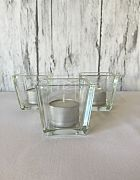 Clear Square Votive & Candle