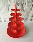 Cake Stand Acrylic (5-Tier Red)