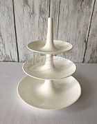 Cake Stand Acrylic Small (3 Tier Wht)