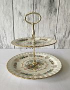 Cake Stand Antique 2 Tier  Avon