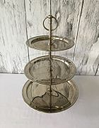 Cake Stand Silver 3 Tier Classic