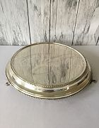 Cake Stand Silver Round Classic