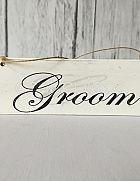 Sign Hanging Shabby Chic Groom