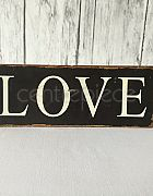 Sign LOVE Rectangle Tinware