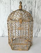 Birdcage Antique Gold Large