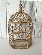 Birdcage Antique Gold Small