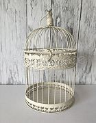 Birdcage French White Large Round