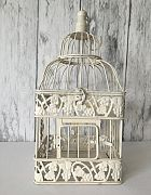 Birdcage French White Medium Square