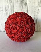 Topiary Ball - Red Rose