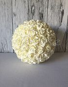 Topiary Ball White Rose Large