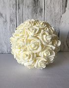 Topiary Ball White Rose Small