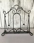 Table Easel Wrought Iron Black