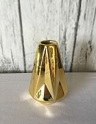Vase Bud Gold Geometric Tall