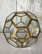 Terrarium Honeycomb Shape Gold
