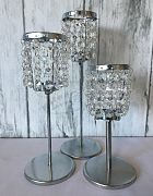 Table Lamp Crystal Drop Med