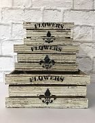 Wooden Box Flower Small
