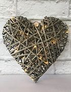 Heart Cane Weaved (can hang)