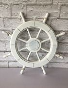 Ships Wheel Wooden White